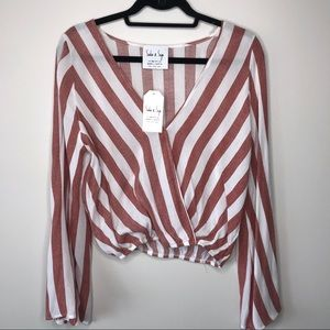 NEW Striped Bell Sleeve Top